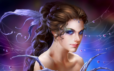 Cute-Girl-Fantasy-3D-Wallpaper