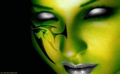 dar-green-art-girl